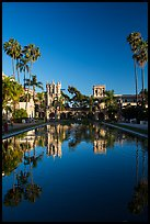 House of Hospitality and Casa de Balboa reflected in lily pond. San Diego, California, USA ( color)