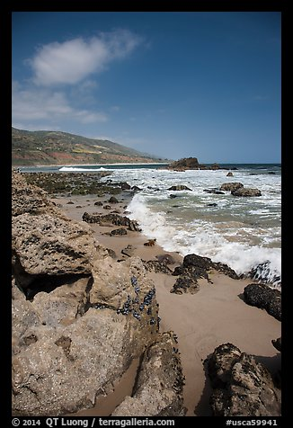 Leo Carrillo State Park, Santa Monica Mountains National Recreation Area. Los Angeles, California, USA (color)
