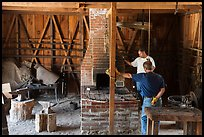 Blacksmith workshop, Fort Tejon. California, USA ( color)