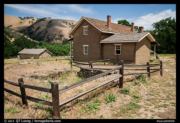 Barracks, Fort Tejon state historic park. California, USA (color)