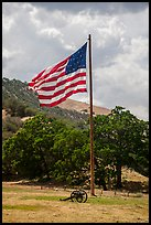American flag, Fort Tejon. California, USA ( color)