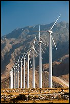 Wind farm and mountains at San Gorgonio Pass. California, USA ( color)