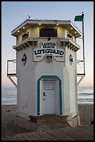 Lifeguard tower. Laguna Beach, Orange County, California, USA ( color)
