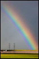 Rainbow above agricultural lands. California, USA ( color)