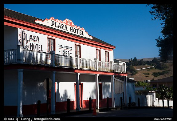Plaza Hotel. San Juan Bautista, California, USA (color)