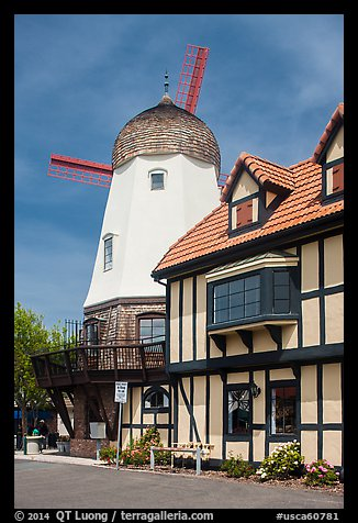 Windmill. Solvang, California, USA (color)
