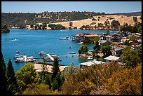 Marina, Tulloch Reservoir. California, USA ( color)