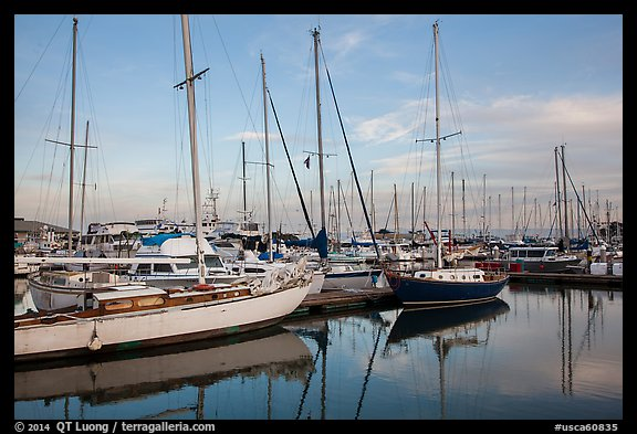 Yachts, Moss Landing. California, USA (color)