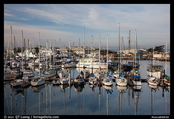 Marina, Moss Landing. California, USA (color)