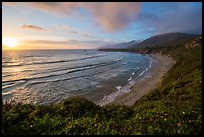Sun setting, Sand Dollar Beach. Big Sur, California, USA ( color)