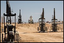Pumpjacks, oil field, Bakersfied. California, USA ( color)