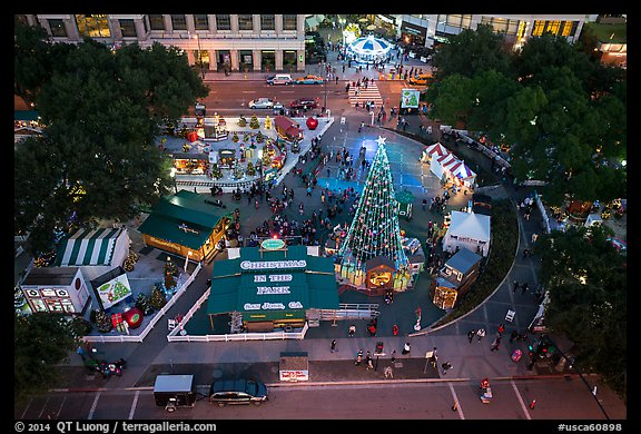 Christmas In The Park San Jose.Picture Photo Aerial View Of Christmas In The Park San