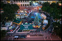 Aerial view of Christmas in the Park. San Jose, California, USA ( color)