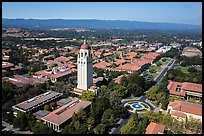Aerial view of Hoover Tower and campus. Stanford University, California, USA ( color)