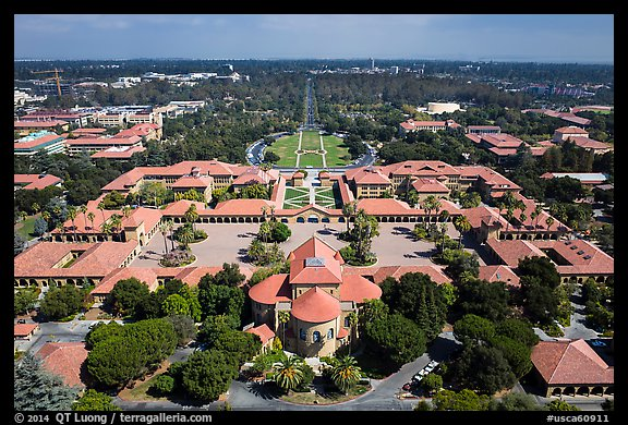 University San Francisco >> Picture/Photo: Aerial view of Main Quad. Stanford ...