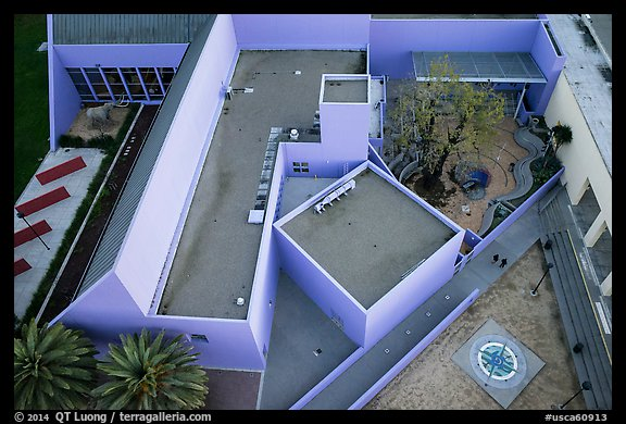 Aerial view of Childrens Museum. San Jose, California, USA (color)