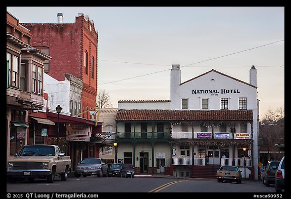 National Hotel, Jackson. California, USA (color)