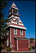 Queen Anne style Old Town Firehouse, Auburn. California, USA ( color)