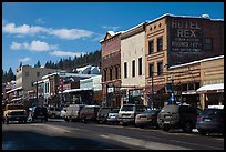 Main street in winter, Truckee. California, USA ( color)