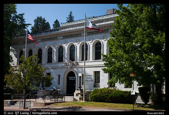 El Dorado County courthouse, Placerville. California, USA (color)