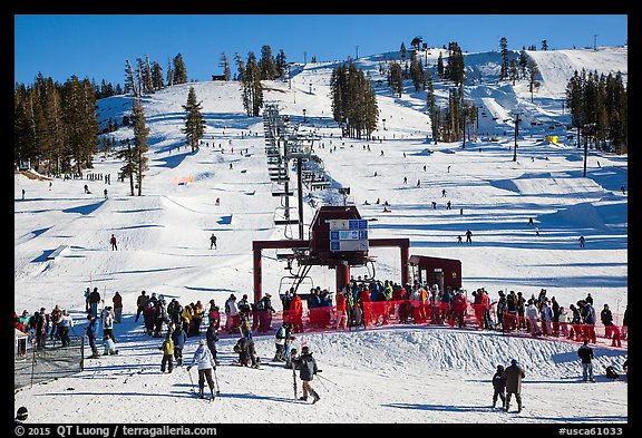 Boreal Mountain ski resort. California, USA (color)