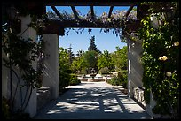 Entrance to memorial garden, Cesar Chavez National Monument, Keene. California, USA ( color)