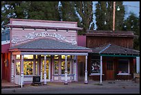 Gift shop and historic buildings, Cedarville. California, USA ( color)