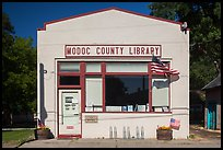 One-room Modoc County Library, Cedarville. California, USA ( color)