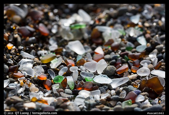 Seaglass detail. Fort Bragg, California, USA (color)