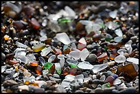 Seaglass detail. Fort Bragg, California, USA ( color)