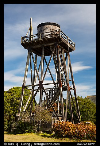 Water tower. Mendocino, California, USA (color)