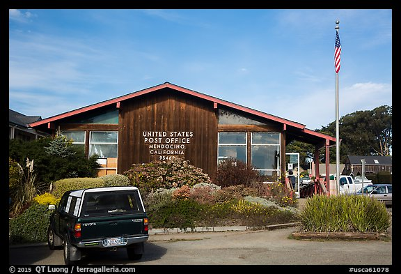 Post Office. Mendocino, California, USA (color)