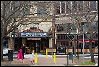 Street and Mcnear Mystic Theatre. Petaluma, California, USA ( color)