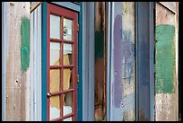 Doors and painted walls, Petaluma Mill. Petaluma, California, USA ( color)