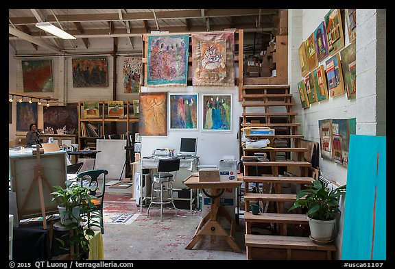Painters studio. Berkeley, California, USA (color)