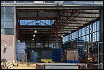 Loading platform and warehouse interior. Berkeley, California, USA ( color)