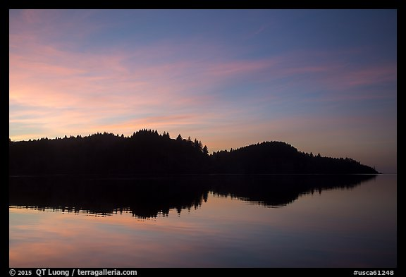 Sunset reflection in Stone Lagoon, Humboldt Lagoons State Park. California, USA (color)