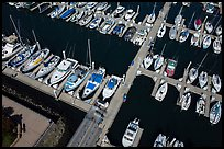 Aerial view of yachts in harbor. Monterey, California, USA ( color)