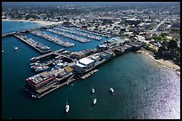 Aerial view of wharf and harbor. Monterey, California, USA ( color)