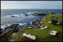 Aerial view of Cypress Point golf course. Pebble Beach, California, USA ( color)