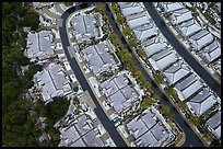 Aerial view of residences after hailstorm. San Jose, California, USA ( color)