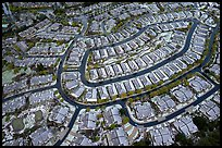 Aerial view of Villages after hailstorm. San Jose, California, USA ( color)