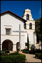 Mission San Juan church. San Juan Bautista, California, USA ( color)