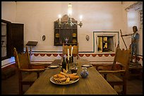 Dining room, Mission San Juan. San Juan Bautista, California, USA ( color)