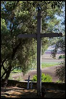 Cemetery, Mission San Juan. San Juan Bautista, California, USA ( color)