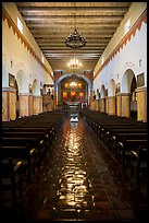 Inside church, Mission San Juan. San Juan Bautista, California, USA ( color)