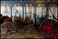 Wagons, Plaza Stable. San Juan Bautista, California, USA ( color)