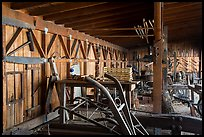 Blacksmith shop and displays. San Juan Bautista, California, USA ( color)