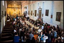 Festival procession in Mission San Miguel church. California, USA ( color)