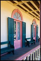 Zanetta House porch, San Juan Bautista State Historical Park. San Juan Bautista, California, USA ( color)